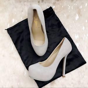 Shoes - Light Gray SuedeTribute Pumps